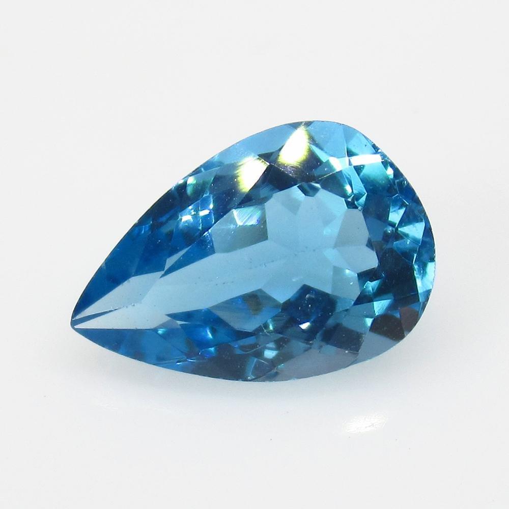 4.14 Ct Natural Blue Topaz Pear Cut