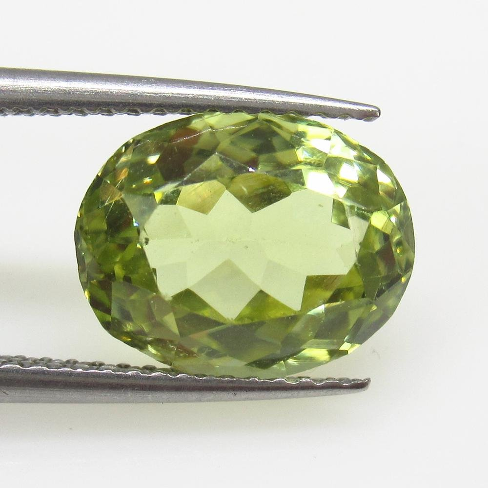 4.28 Ct Natural Lime Green Sillimanite Oval Cut