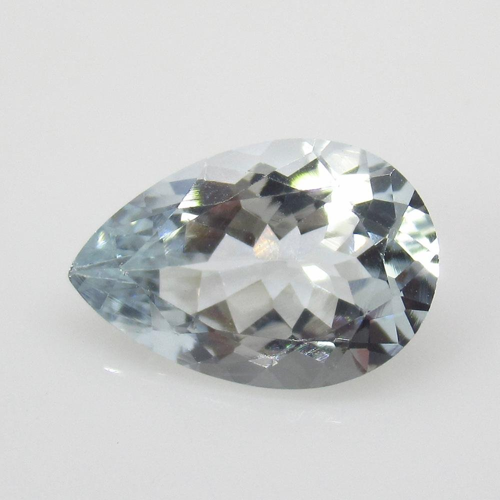 2.47 Ct Natural Aquamarine Pear Cut