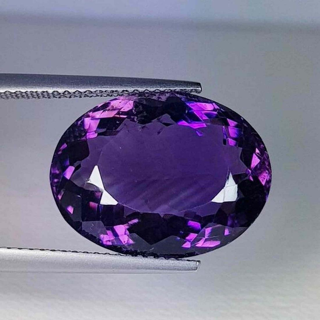 Natural Amethyst Oval Cut 15.45 ct