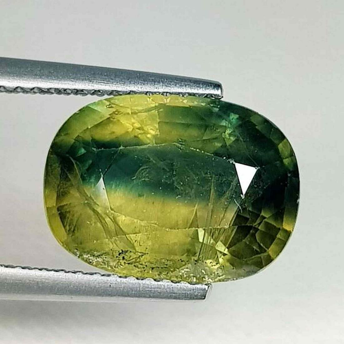 Natural Green Sapphire Oval Cut 7.10 ct