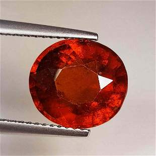 Natural Hessonite Garnet Oval Cut 5.98 ct