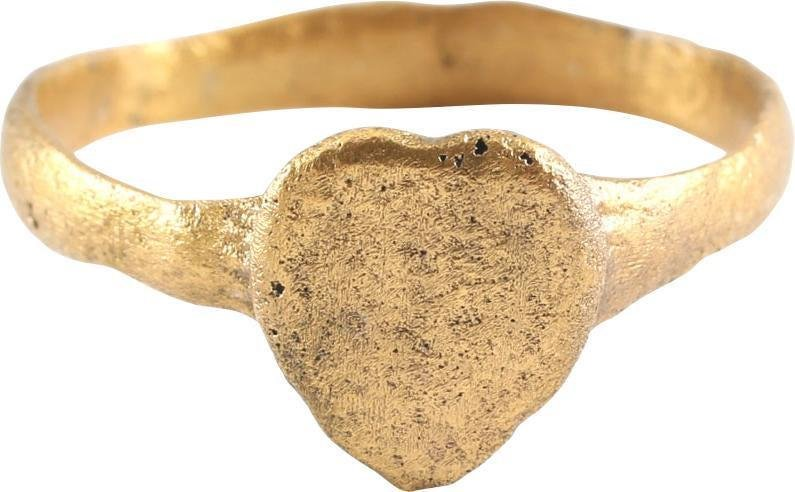 FINE VIKING HEART RING C.900-1050 AD JEWELRY, SIZE 10