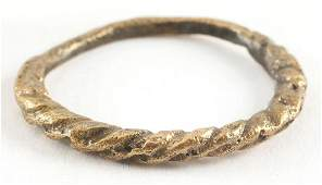 FINE VIKING TWISTED RING C.866-1067 AD SIZE 8 1/4