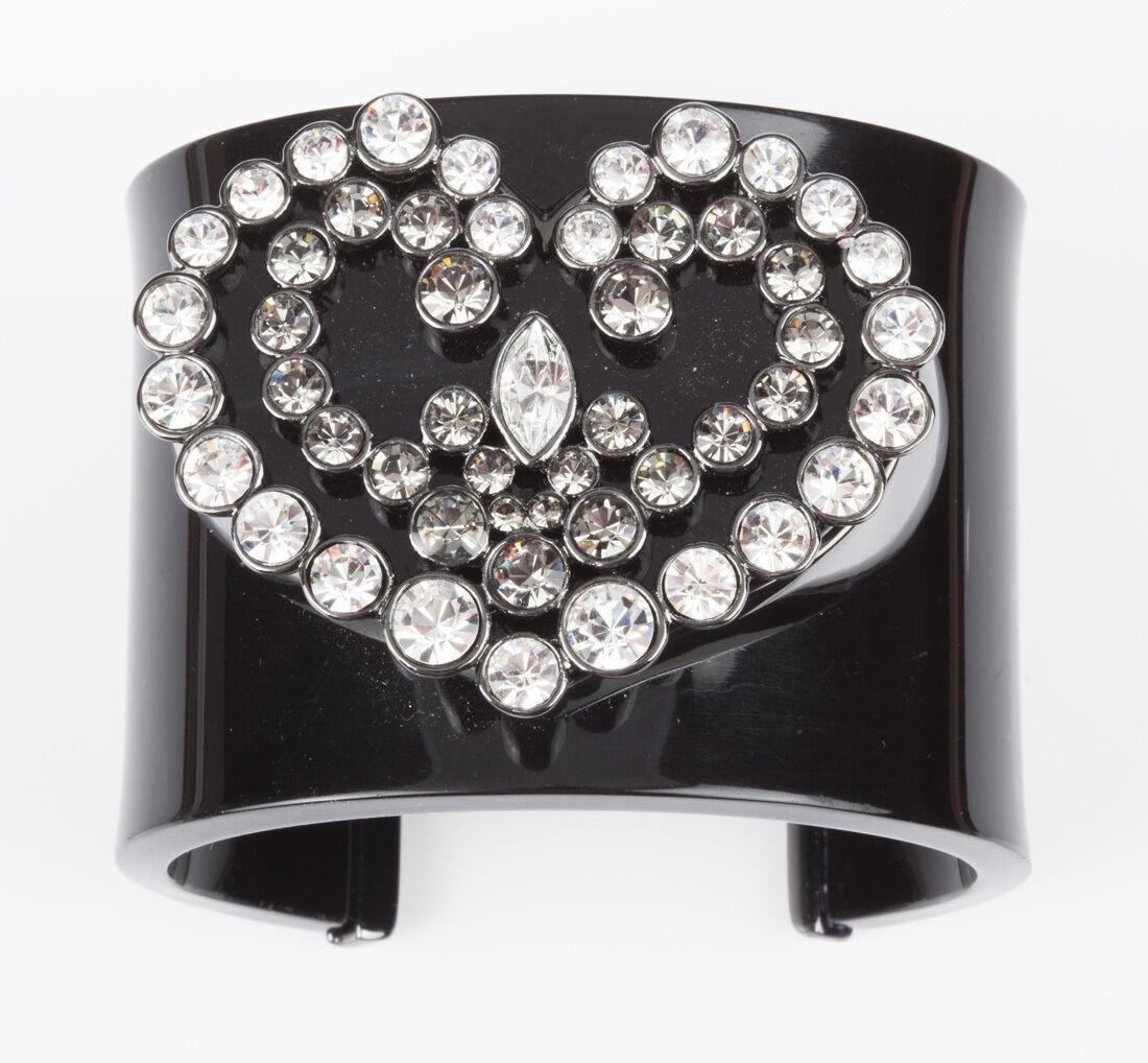Givenchy Massive Heart Swarovski Crystal Runway Cuff