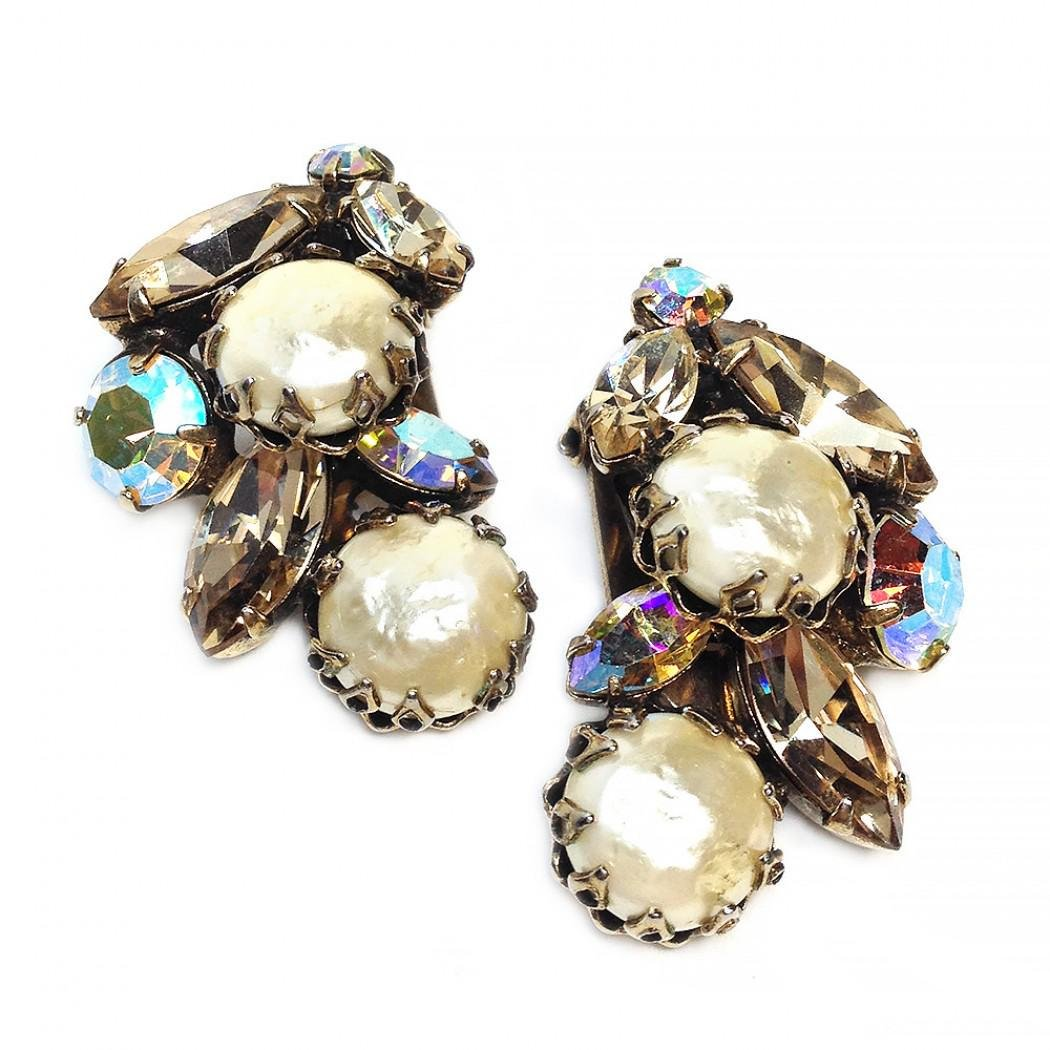Regency Cluster Earrings with Pearl
