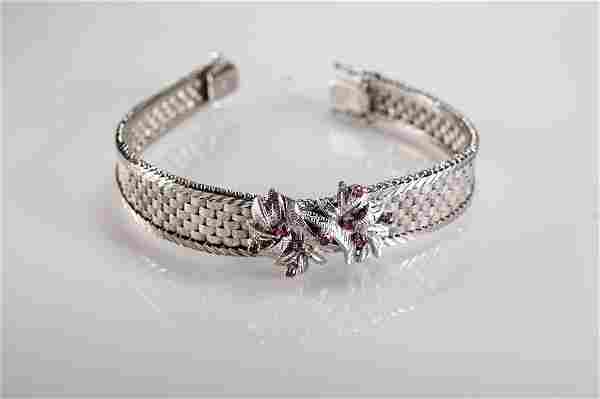 14K bracelet with rubies from the 1960'