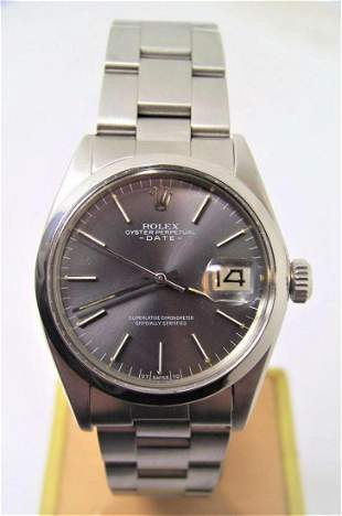 Vintage Mens ROLEX Oyster Date Automatic Watch c.1972