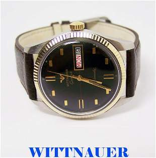 Vintage SSteel 10k WITTNAUER GENEVE Automatic Day