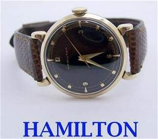 Vintage 14K HAMILTON Mens Winding Watch 1960s CAl 748*