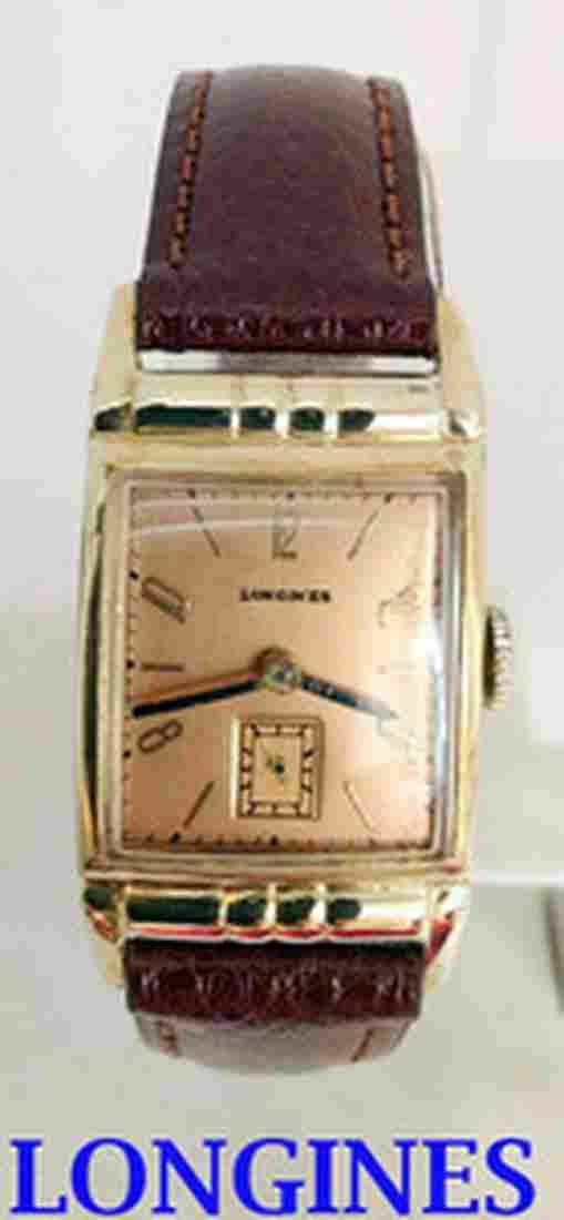 Vintage GF 10k LONGINES Mens Wind Watch 9L 1940s in