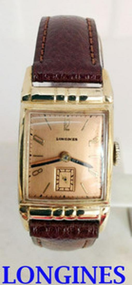 Vintage GF 10k LONGINES Mens Wind Watch 9L 1940s in