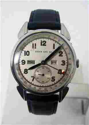 Vintage BROCK CO Mens Triple Calendar Winding Watch