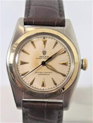 Vintage SSteel 14k ROLEX Bubble Back Automatic Watch