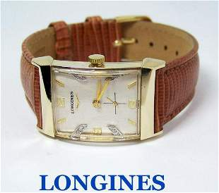 Vintage 14k LONGINES Winding Watch c1940s Cal 9LT