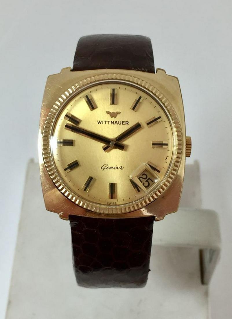 Vintage Gold Plated WITTNAUER Unisex Wind Watch 1970s