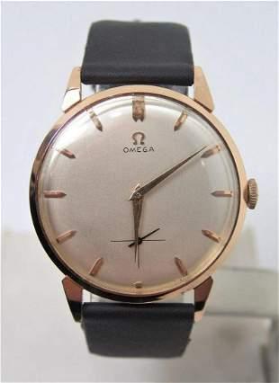 Vintage Solid 18k Rose Gold OMEGA 17J Winding Watch