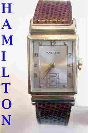 Vintage 14k Gold HAMILTON Winding Watch 1950 Cal 982*