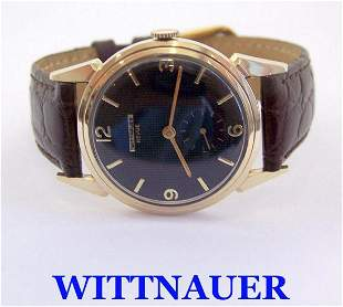 Vintage 14k WITTNAUER REVUE Mens Winding Watch 1960s
