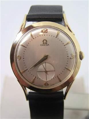 Vintage Solid 14k OMEGA 17J Winding Watch 1950s