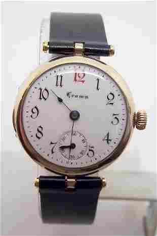 Vintage Rose Goldfilled Unisex CROWN Winding Watch