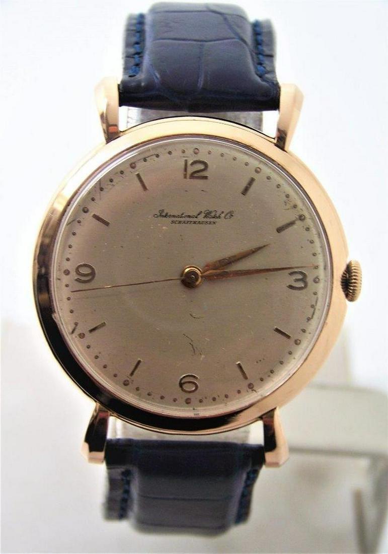 Vintage 18k Rose Gold IWC SHAFFHAUSEN Winding Watch