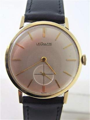 Vintage 14k LeCOULTRE Winding Watch 182*1960s Cal