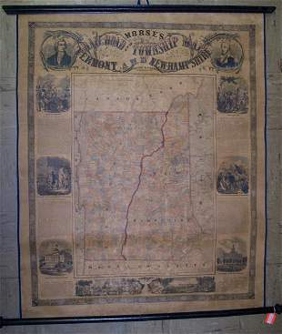 Morse's Rail Road and Township Map of Vermont and