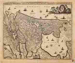 1680 de Wit Map of the Netherlands -- Comitatus