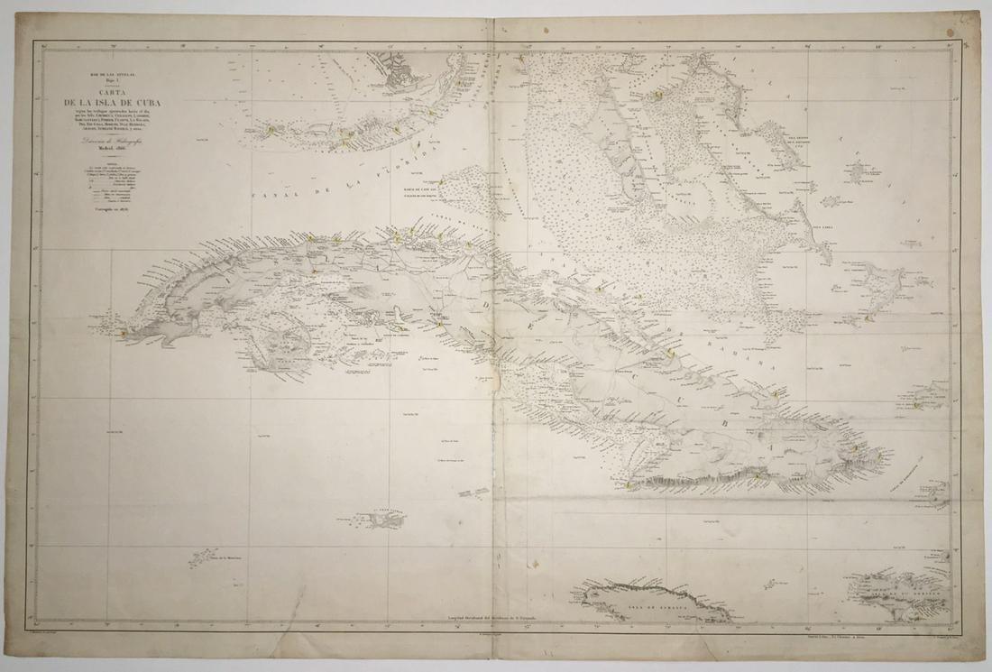 Mar De Las Antillas - Hoja I. Carta De La Isla De