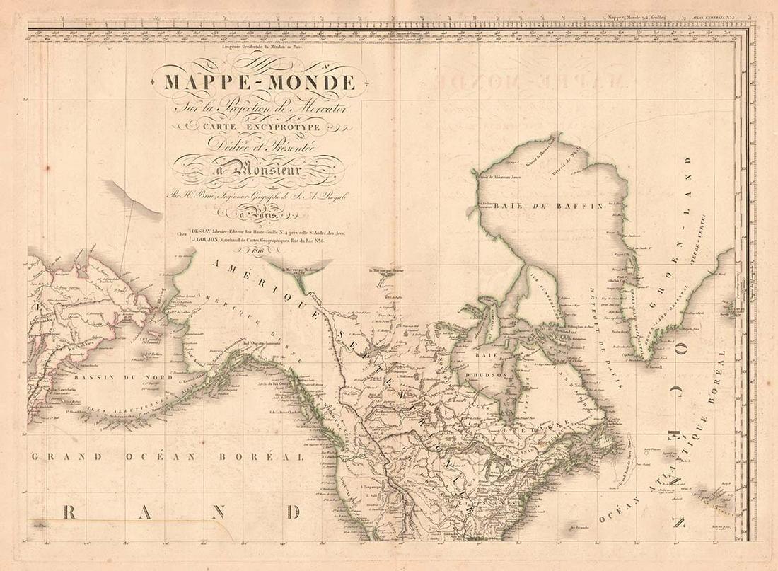 Mappe-Monde Sur La Projection De Mercator