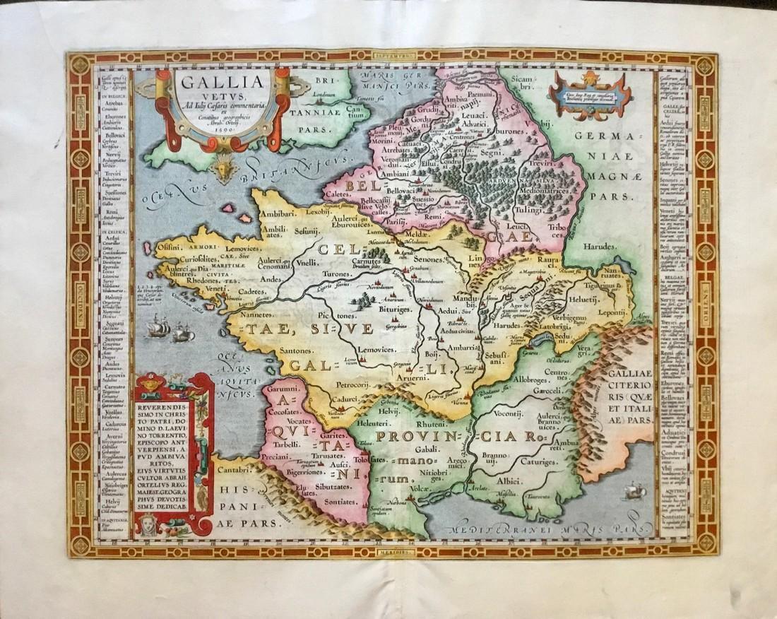 Ancient Gaul (France) based on Julius Caesar's writing.