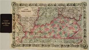 1872 Colton Map of Kentucky -- Colton's Kentucky
