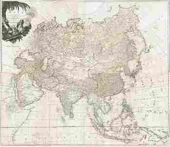 Asia According to the Sieur D'anville,
