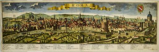 1730 Werner View of Rome -- Roma