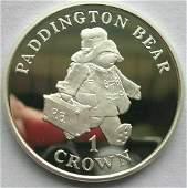1998 Gibraltar Large Silver Proof 1 Crown Paddington
