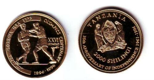 Rare 1996 Tanzania GP 2000 s pattern Olympic Boxers T1