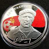 2008 Armenia Large Silver Color Proof 100 Dram Soccer