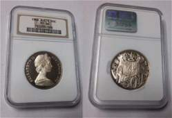 Rare 1966 Australia Silver Proof 50 C NGC PF 66