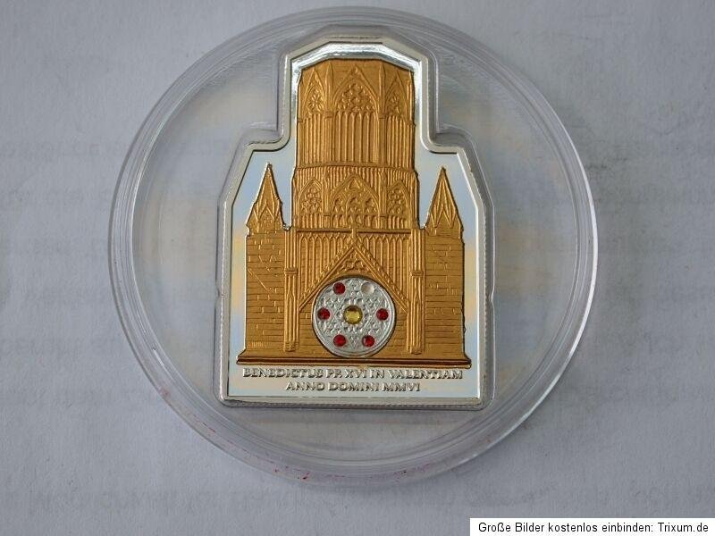 2006 Cook Is Large Silver/Goldpl.; Proof $5-Vatican