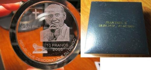 Congo 2005 Huge 10 fr-Pope John Paul II-in MEMORIAM-