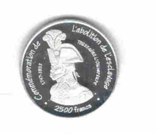 Rare 2007 Senegal Proof Silver 2500 fr essai pattern