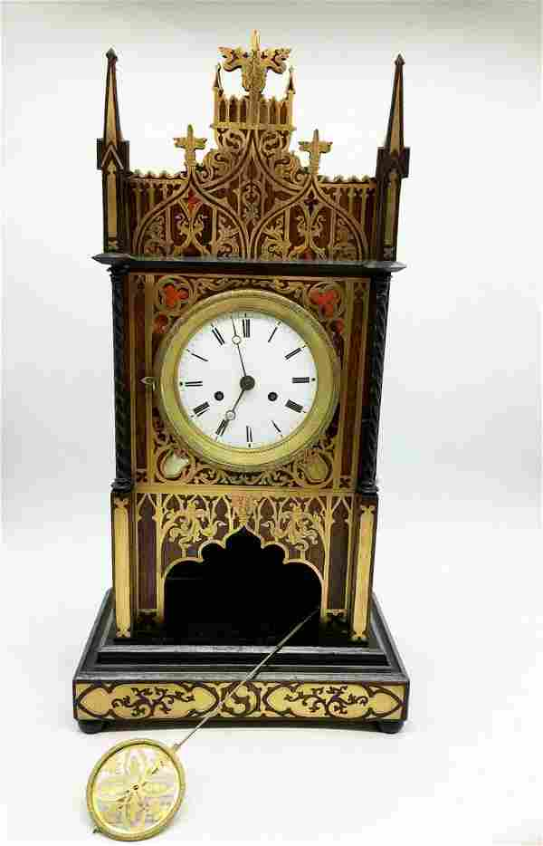 Wooden carriage clock in empire style