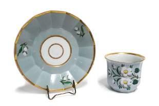 Bohemian cup of Biedermeier Klterec