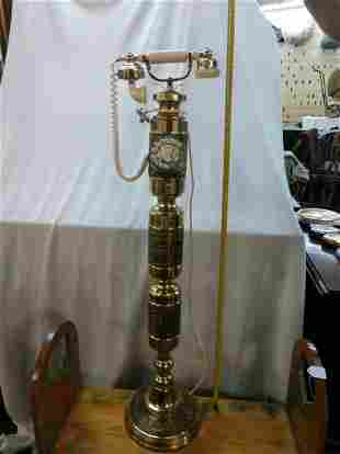 Floor Stand Brass Telephone
