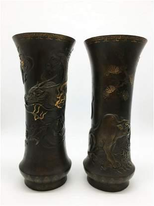 Bronze Vases with Gilding