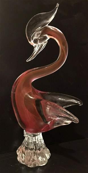 Murano Art Glass Swan