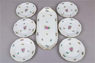 Herend Eton Pattern Dessert Set for Six People 7