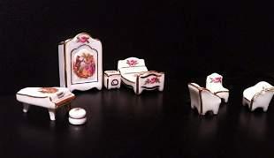 Limoges Fragonard Miniature Bedroom Set 8 pcs