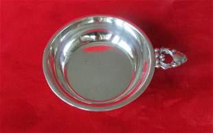 Vintage Sterling Silver Small Handled Dish Porringer